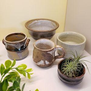 Mini succulent pots/planters - Set of 5 pottery pots